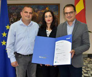АД ЕСМ се стекна со нов сертификат за примена на системот за заштита на животната средина